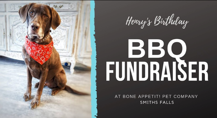 SATURDAY MAY 25, 2019 – Henry's Birthday BBQ Fundraiser