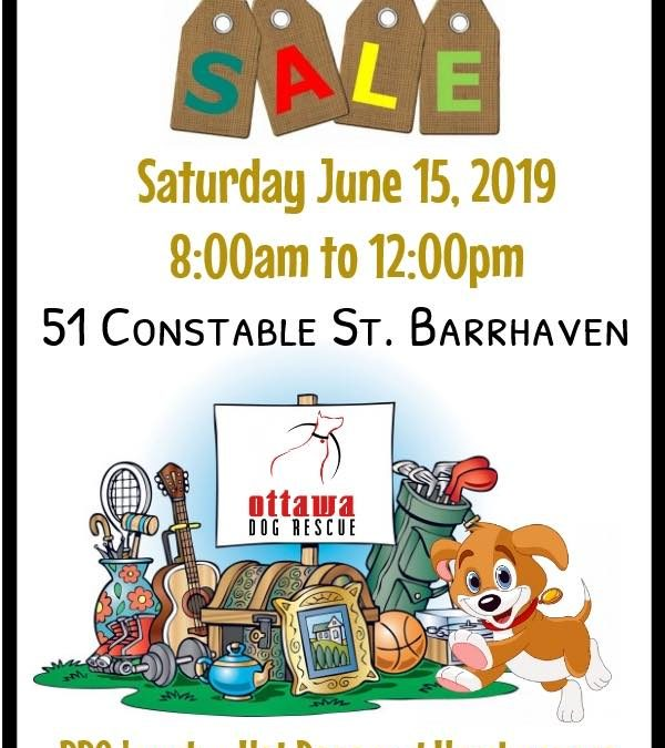 SATURDAY JUNE 22nd – ODR ANNUAL GARAGE SALE